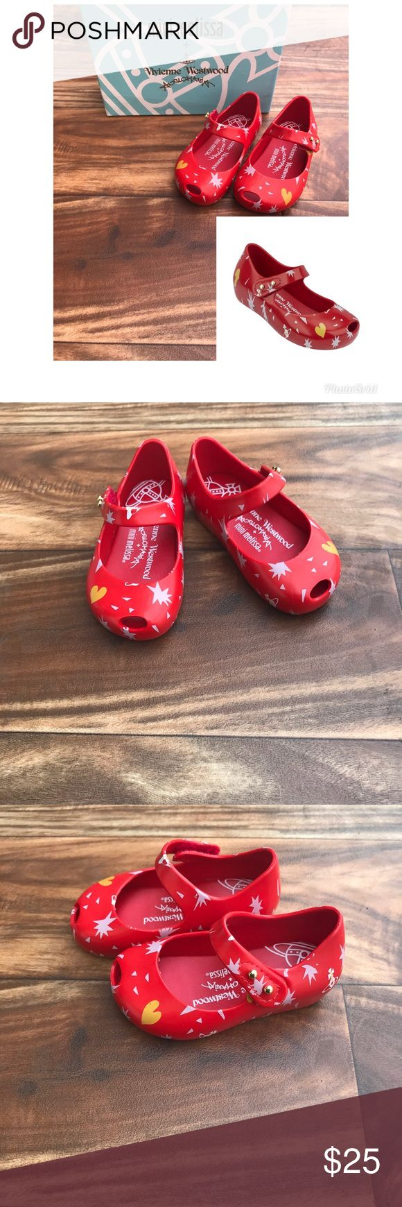 Melissa Vivienne Westwood Red Jelly Toddler Shoes New with box Great and comfy style  Size 5  Red shoes Melissa Shoes