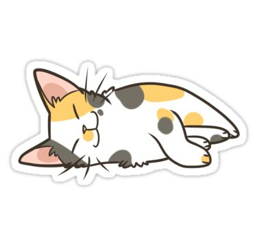 Part of my cat stickers set. • Also buy this artwork on stickers and home decor.