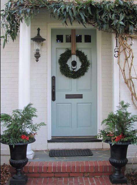 Benjamin Moore Stratton Blue Cute front door color!