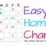 Teacher Mama: Simple, but Effective: Easy Homework Chart