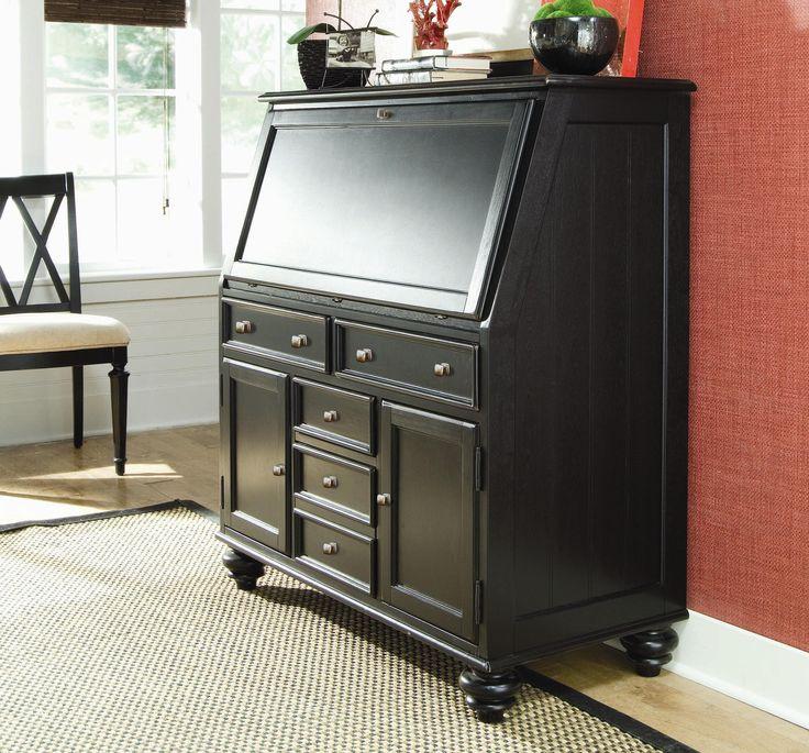 camden dark secretary desk with drop down lid by american drew wolf furniture computer