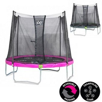 EXIT Twist 6ft Trampoline Pink/Grey | 6ft Trampolines from EXIT