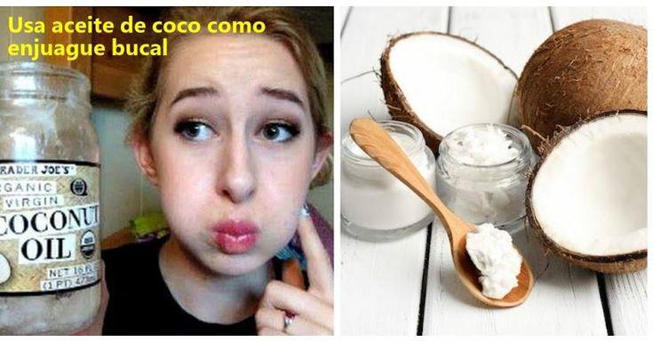 Aprende a usar aceite de coco como enjuague bucal