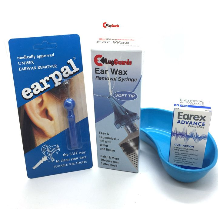 Ear Wax Removers: Earex Wax Removal Drops, Lugguards 60Ml Ear Syringe + Catch Basin And Earpal -> BUY IT NOW ONLY: $36.1 on eBay!