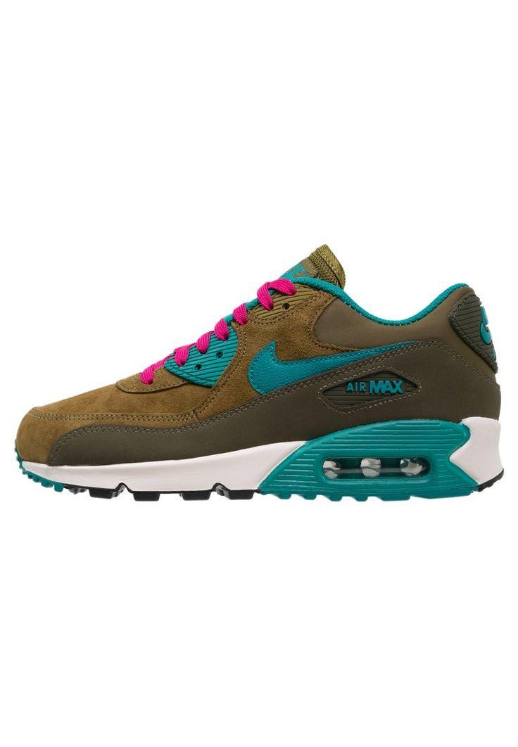 Nike Sportswear AIR MAX 90 - Sneaker - dark loden/radiant emerald/military green - Zalando.de