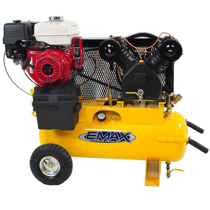 gas powered air compressor for service truck. emax industrial plus 8 hp 17-gallon truck mount portable gasoline air compressor gas powered for service m