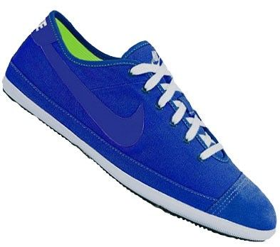 Nike Flash Canvas Pumps Heren Schoenen Saffier Blauw Wit Limoen Groen,HOT SALE!