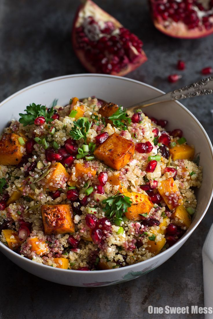 Roasted Butternut Squash Quinoa Salad: This fall salad is healthy, naturally…