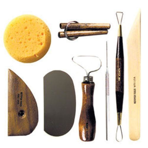 Perfect for the beginner potter, in or out of the classroom setting. Used by schools and universities around the world, this kit is packaged in a reusable vinyl bag with pockets to keep your tools tog