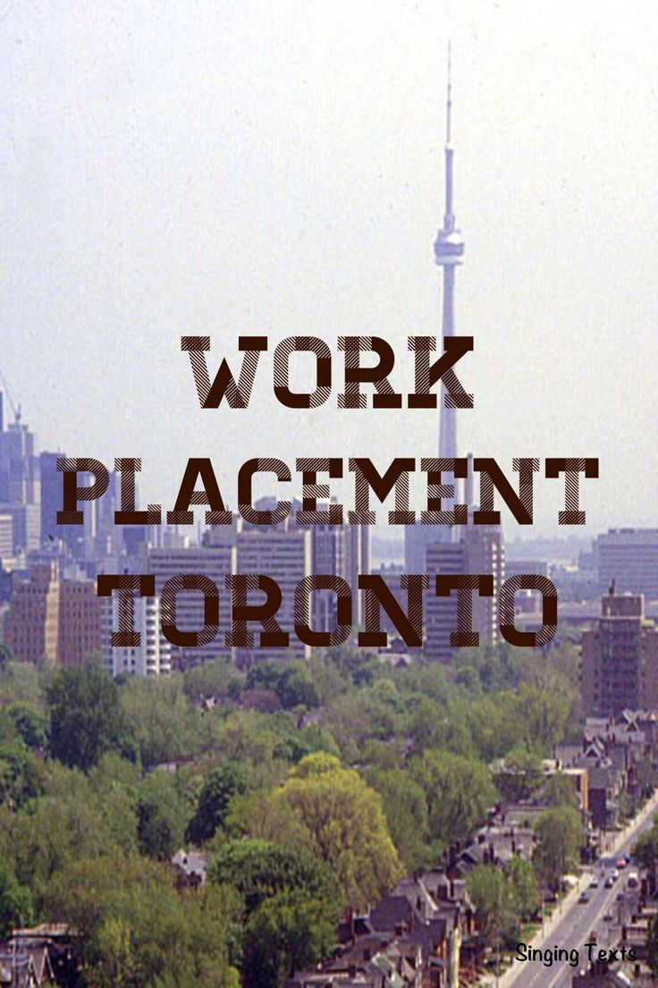 Work experience in the heart of Toronto City www.workplacementcanada.com