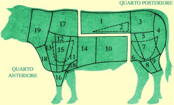Pino il macellaio » I tagli di carne bovina
