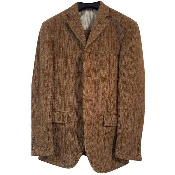Pre-owned Polo Ralph Lauren Traje De Tres Piezas De Tweed De Polo... ($568) ❤ liked on Polyvore featuring men's fashion, brown and men clothing suits