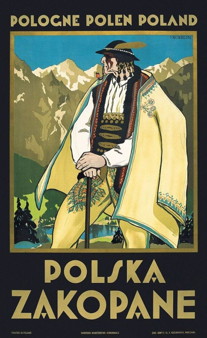 Zakopane (Poland) design by Stefan Norblin - 1925