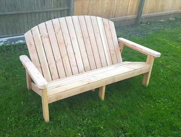 recycled pallet garden bench plans
