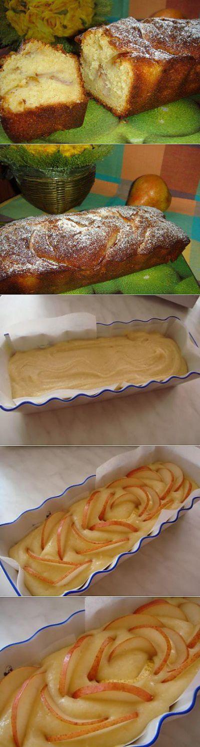 Кекс творожный с фруктами : Выпечка сладкая