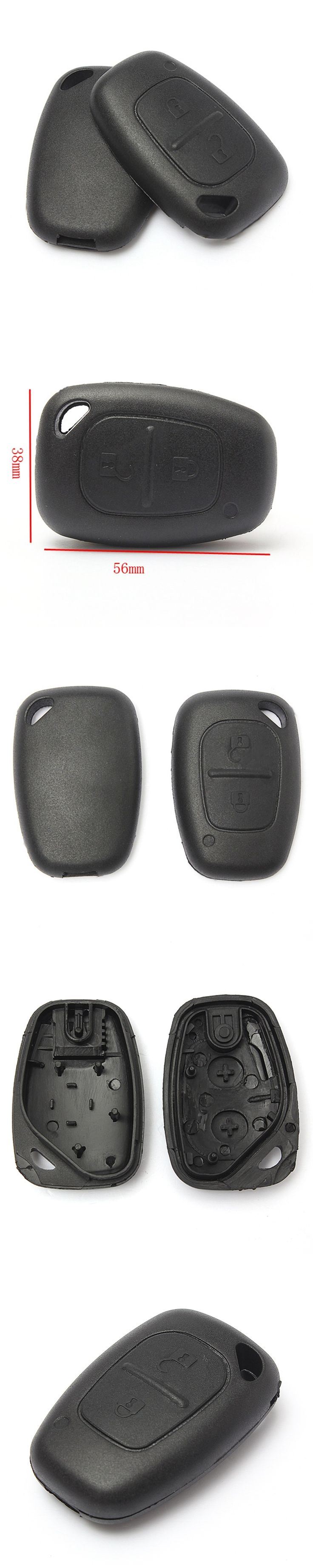 Rreplacements General 2 Buttons Keyless Remote Shell Case Key Fob For Renault Opel for Vauxhall For Nissan Vivaro Movano Traffic