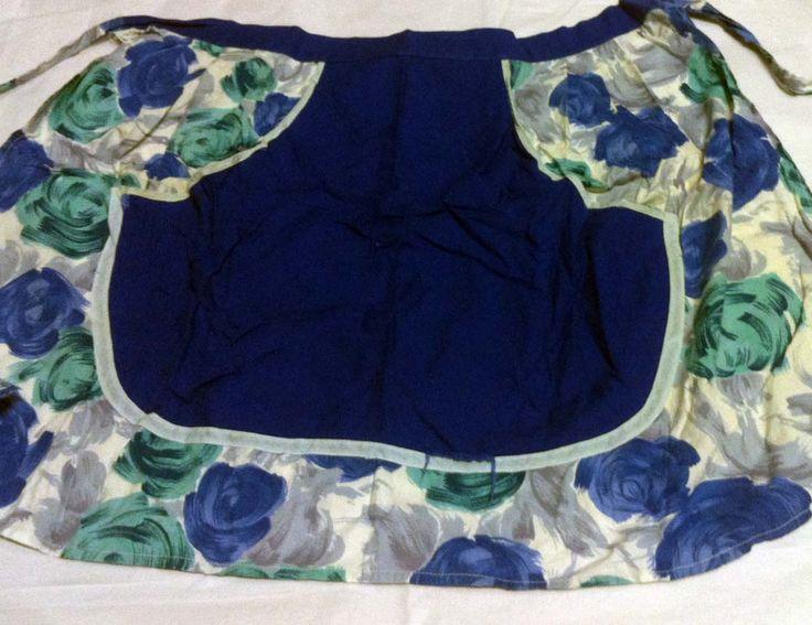 Blue kitchen tea apron