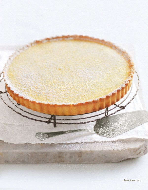 """Delicious Lemon Tart. """"I love lemon tart ... always looking for the perfect recipe. This one, from Donna Hay looks perfect."""" Indeed it does."""