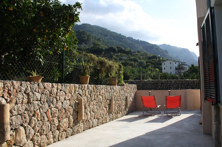 View from back-courtyard of Villa Emilia, Soller