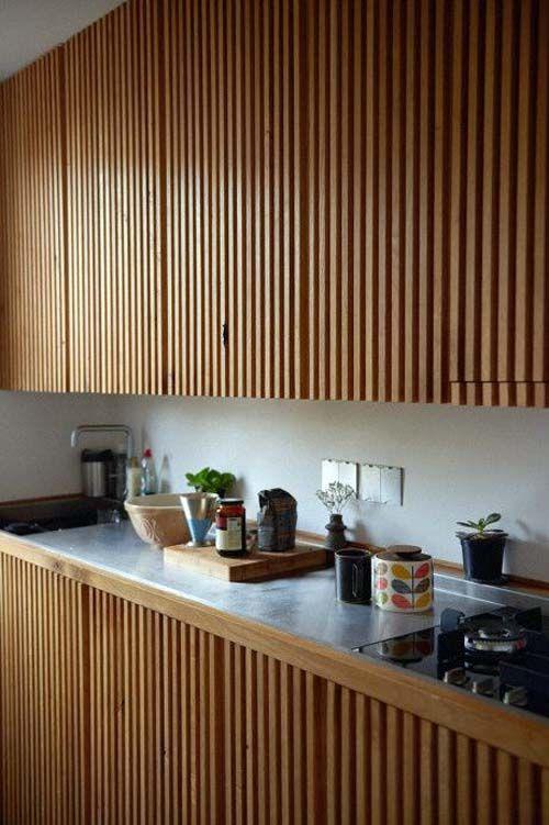 Аналогичный прием для создания фасадов на кухне.