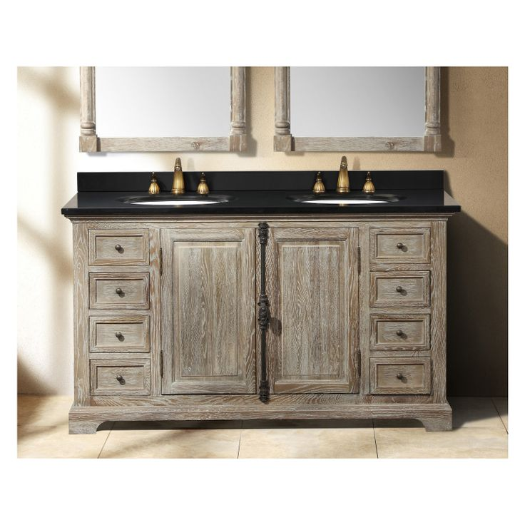19 best weathered wood bathroom vanities images on pinterest