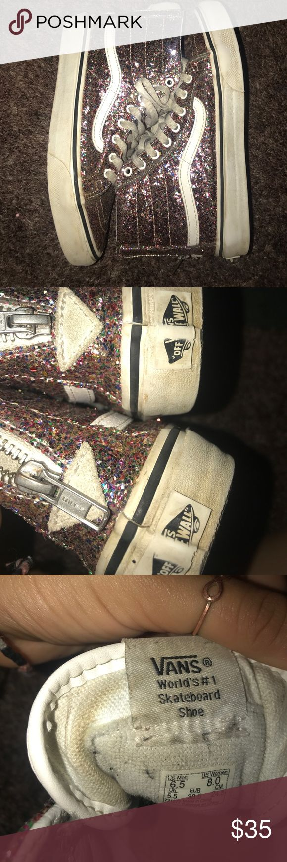 Glitter vans high tops Glitter vans high tops in very good condition only worn 3 times Vans Shoes Sneakers