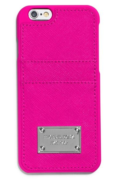 MICHAEL Michael Kors Saffiano Leather iPhone 6 Plus Case available at #Nordstrom