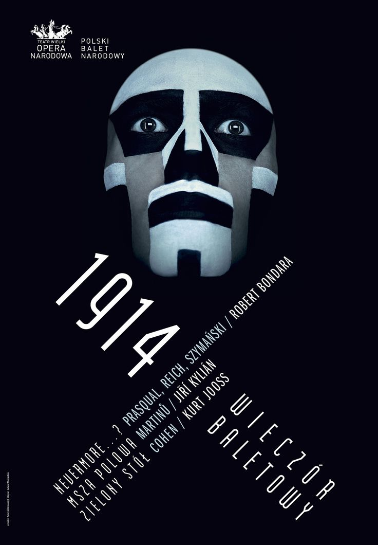 Poster for '1914' - Ballet Evening at Grand Theatre in Warsaw