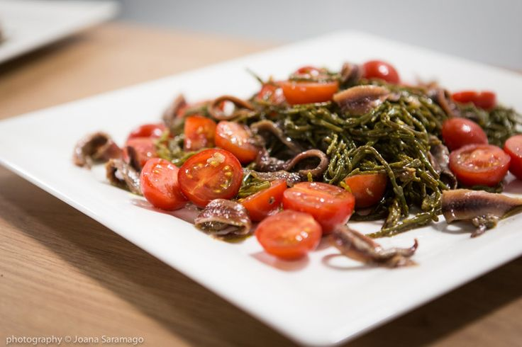 Pickled Samphire and Anchovies salad