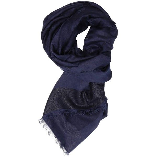 Scarf Scarf Women ($76) ❤ liked on Polyvore featuring accessories, scarves, blue, armani jeans, blue scarves and blue shawl