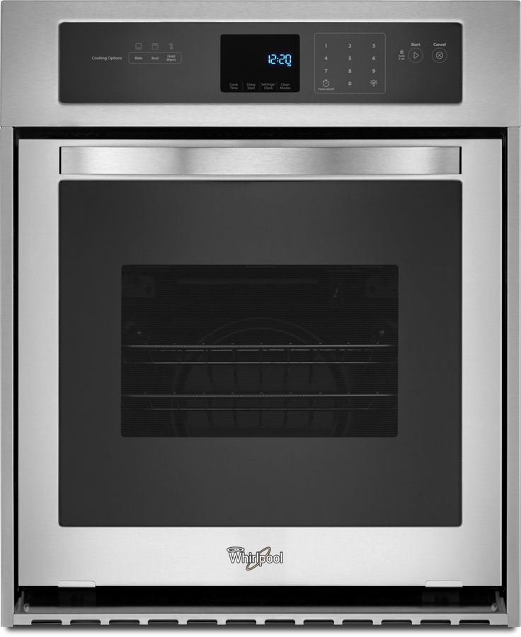 Whirlpool WOS51ES4E 24 Inch Single Electric Wall Oven with 3.1 cu. ft. Capacity, 3600 Watt Broil Element, High Heat Self-Cleaning Mode, Delay Cook Setting, ADA Compliant and Star-K Certified