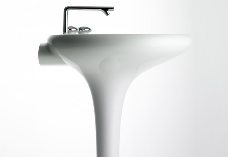 Ross Lovegrove  VitrA Bathroom  Istanbul washbasin with integrated pedestal