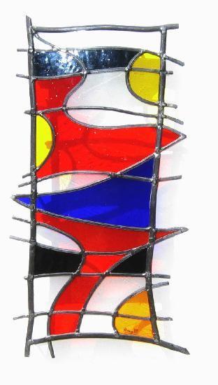 vitrail GRAFFITTI IV Leo Amery