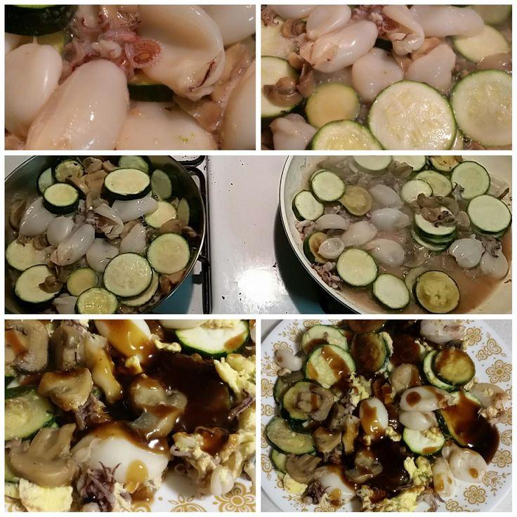 Calamari and Veggies #food