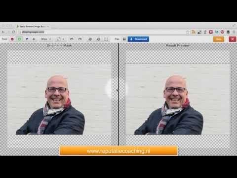 Foto uitsnijden en achtergrond verwijderen (clipping) - #INSTRUCTIEVIDEO #ReputatieCoaching #Foto #ClippingMagic #fotobewerking
