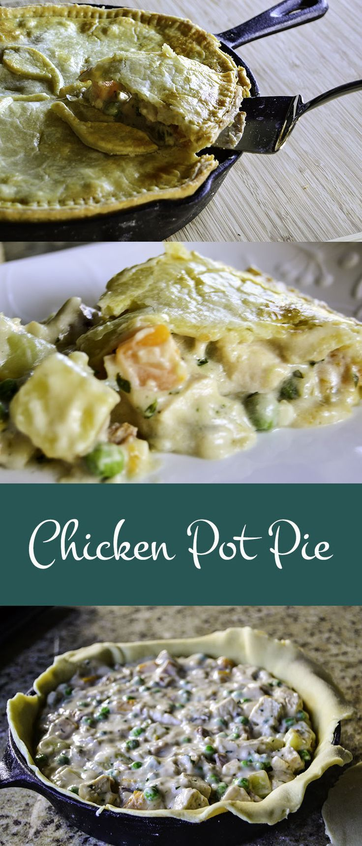 This chicken pot pie includes chicken, potatoes, butternut squash, and ...