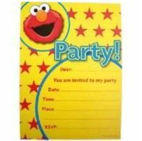 1120 - Elmo Party Invitations. Pack of 8 www.facebook.com/popitinaboxbusiness
