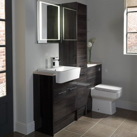 Vetro cinder fitted bathroom furniture Roper Rhodes