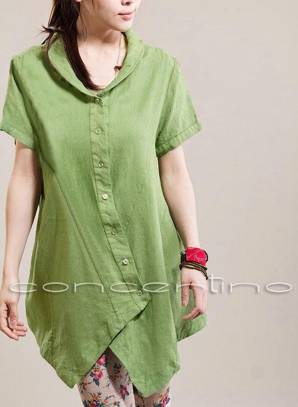 Tunic Linen Top Tunic T Shirt Oversize Tunic Poncho Tunic Mini Dress Tunic. $62.00, via Etsy.