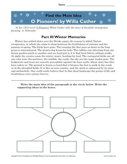 The major parts in willa cathers writing