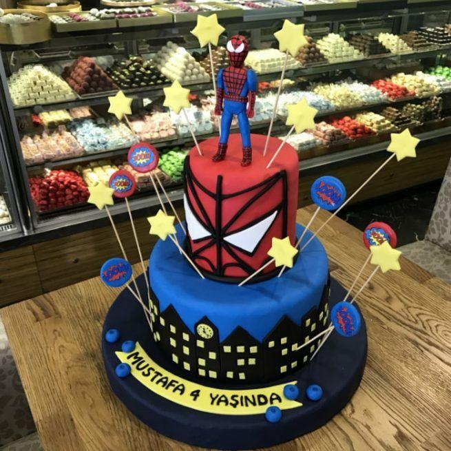 Örümcek Adam Tasarım Pasta • 1 Dakikada Sipariş Ver! • Bulvar Pastanesi    #pasta #cake #butikpasta #orumcekadam