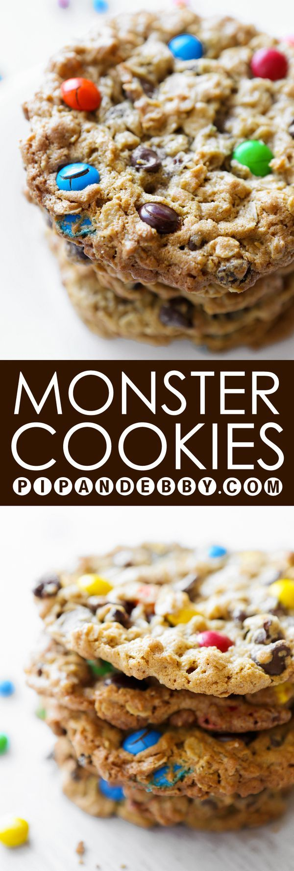 Monster Cookies in honor of Cookie Monster (and Sesame Street's new partnership with HBO!) - these are THE BEST cookies I have ever eaten, WITHOUT A DOUBT.