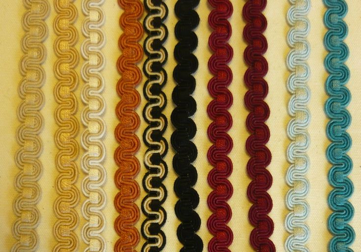 SCROLL GIMP EDGING TRIM UPHOLSTERY SOFT FURNISHING TRIMMING ALL COLOURS PER~M | eBay