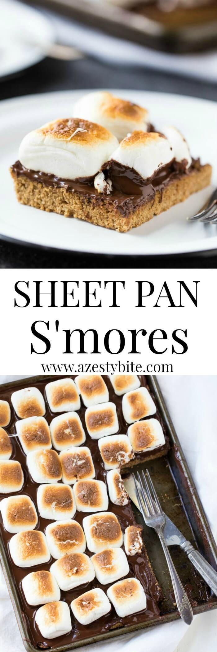 Sheet Pan S'mores (Smores Dessert Recipes)