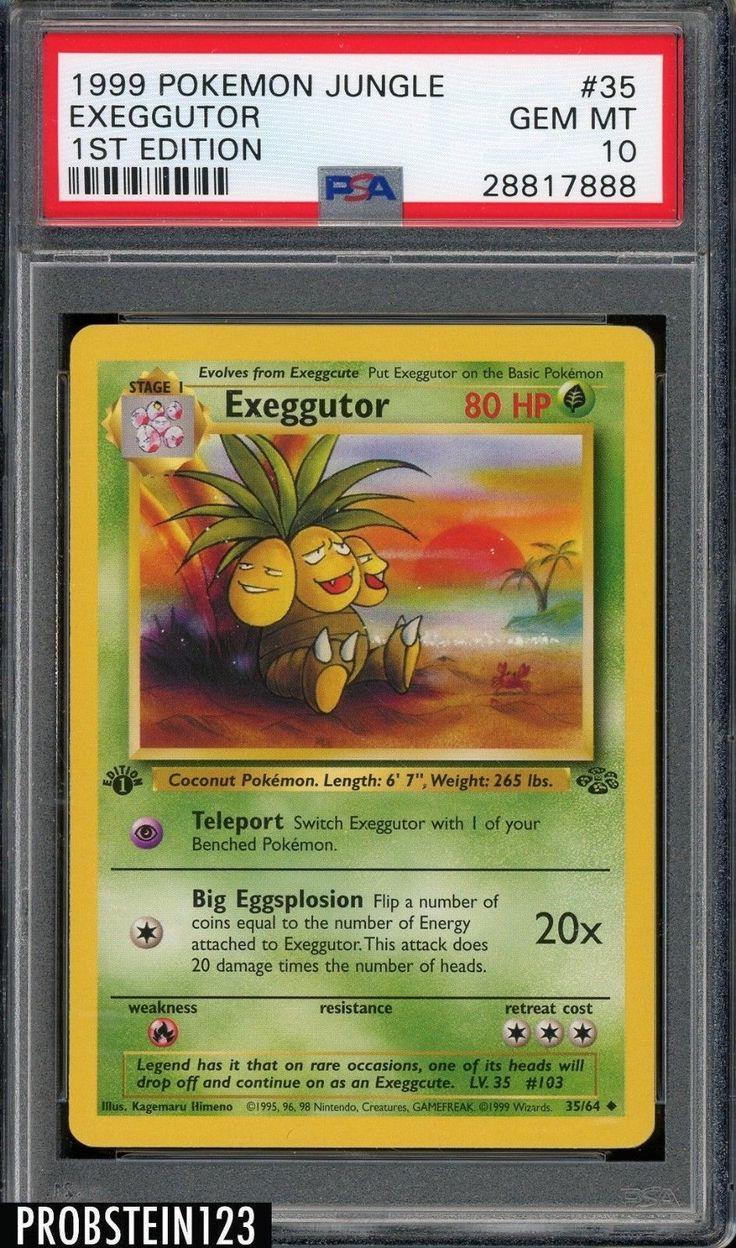 1999 pokemon jungle 1st edition 35 exeggutor psa 10 gem