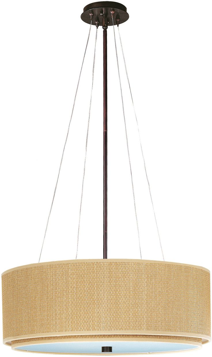 22 best lighting images on pinterest hanging lights pendant oil rubbed bronze h x w grass cloth finish size shade fixture width 29 inches fixture height 10 inches wire length 42 inc greentooth Image collections
