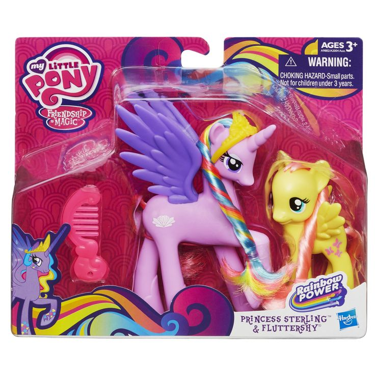 My Little Pony Princess Cutie Mark Magic Sterling And Fluttershy Figure Set