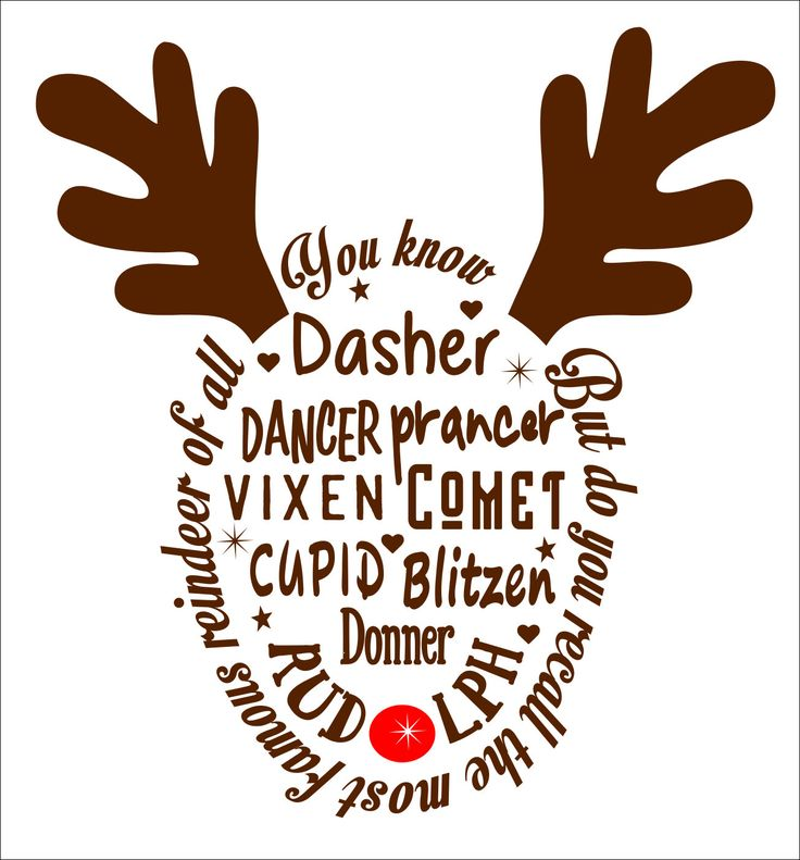 Reindeer SVG File PDF / dxf / jpg / png / eps /Studio 3 Reindeer Names SVG File for Cameo electronic cutters Sign Shirt Decal Christmas Deer by TheLazyIdesigns on Etsy
