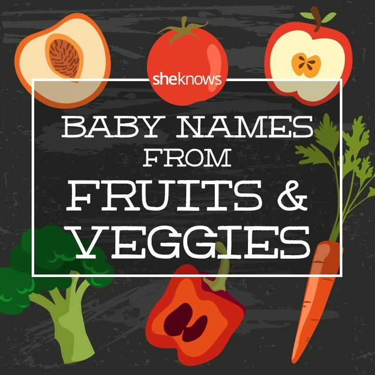Fun baby names for a foodie! Names from fruits and vegetables