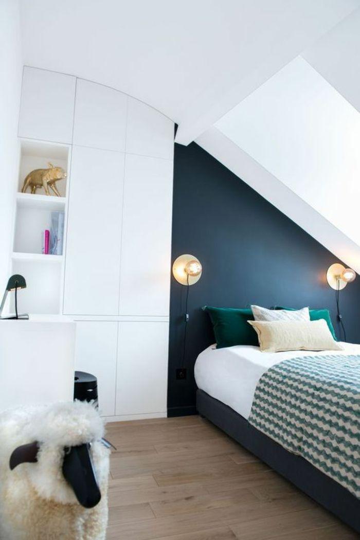 1001 id es pour la d co de la chambre de 9m2 comment - Idee peinture chambre mansardee ...